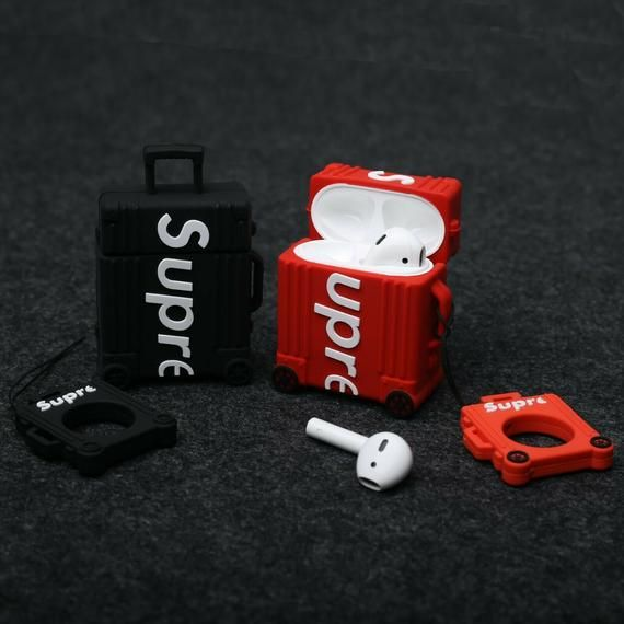 Sup Airpod Case Protective Cover Earphone Charging Case 3d Print Red Black Airpod Case Case Case Cover
