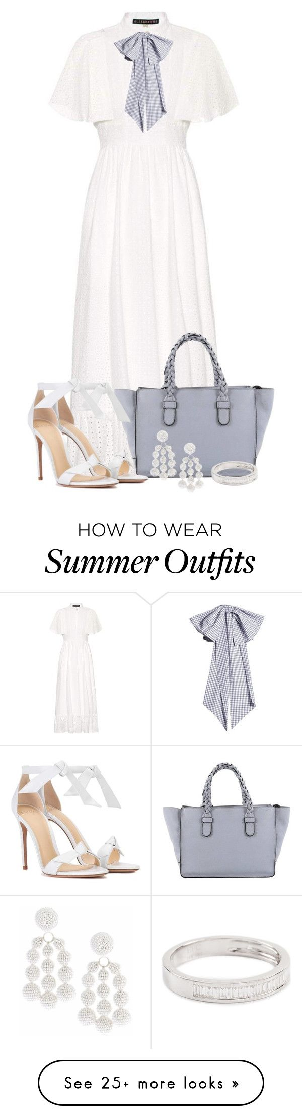 """""""Summer Outfit 8"""" by larycao on Polyvore featuring AlexaChung, Valentino, Alexandre Birman, Sachin + Babi, EF Collection and Dovima Paris"""