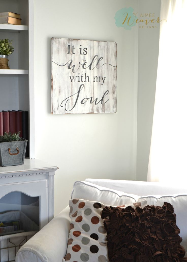It is well with my soul - wood sign by Aimee Weaver Designs