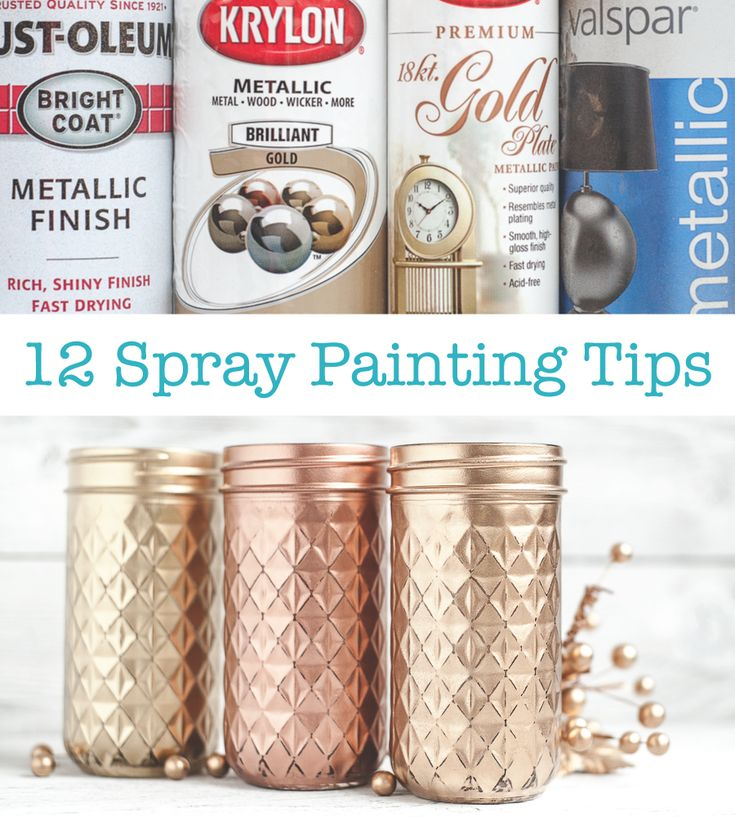 Spray Painting tips. Gold spray paint comparison too.