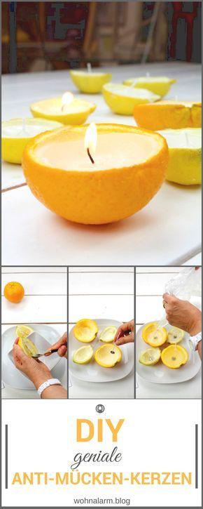 DIY: Anti-Mücken-Kerzen oder Citronella-Kerzen ganz einfach selber machen