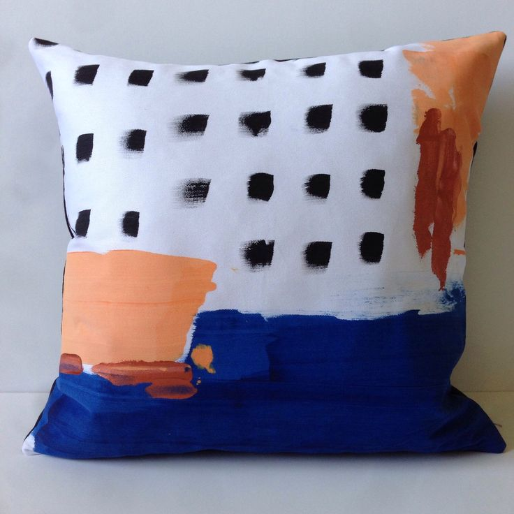 A personal favourite from my Etsy shop https://www.etsy.com/au/listing/267324639/handpainted-abstract-style-throw-cushion
