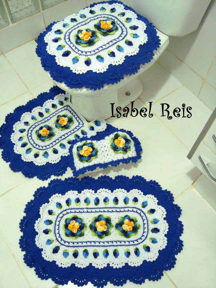 Jogo De Banheiro De Gato Croche : Melhores ideias sobre croche em barbante no