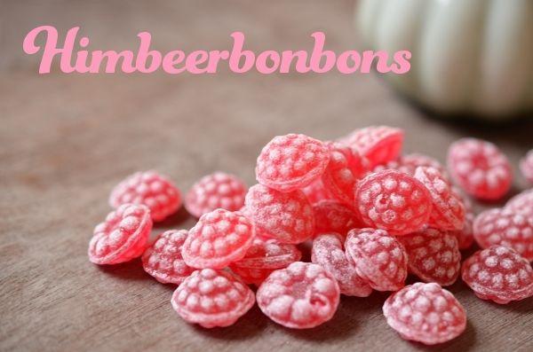 Himbeerbonbons... lose, aus´m großen Bonbon-Glas im Tanta Emma Laden um die Ecke