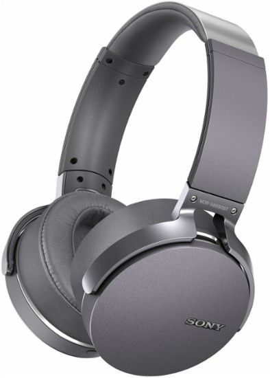 Sony - XB950BT Wireless Over-the-Ear Headphones - Titanium - Front Zoom