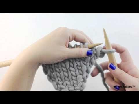 Cómo tejer aumentos (parte I) - Aprender a tejer - YouTube