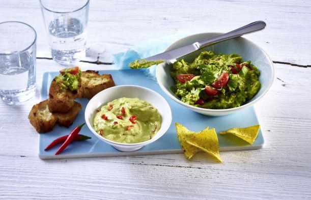 Unser beliebtes Rezept für Avocado-Chili-Aioli und Guacamole mit Tomate und mehr als 55.000 weitere kostenlose Rezepte auf LECKER.de.