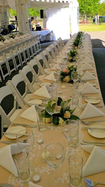 #PeppersConvent #TowerLodge #vintage #wedding #whitefoldingchairs #HunterValleyWeddings #huntervalley #pokolbin #beige #tablecloths #ceilingdrapery #lacetablerunner
