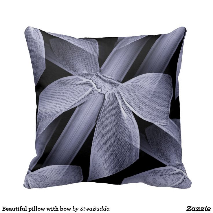 Beautiful pillow with bow