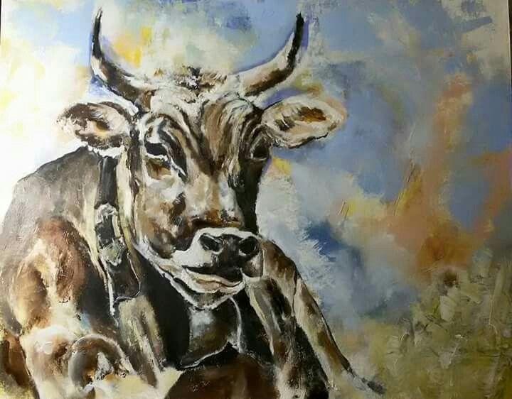 Kráva, 40x40 cm