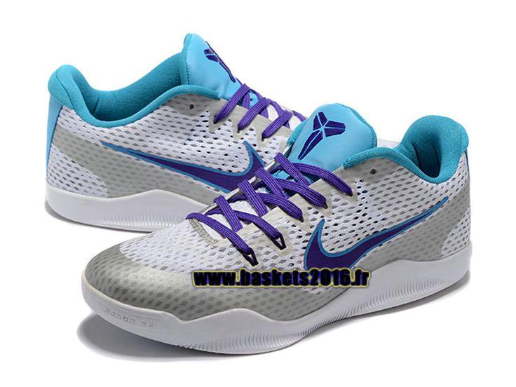 Nike Kobe 11 Elite Low Chaussures Nike Baskets 2016 Pas Cher Pour Homme Gris / Bleu