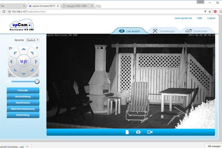Test der #WLAN-#Überwachungskamera #upCam #Hurricane HD PRO.Ein IP-Überwachungskamera für den Außenbereich. Durch Schwenkmotor + #Zoomobjektiv sehr vielseitig.