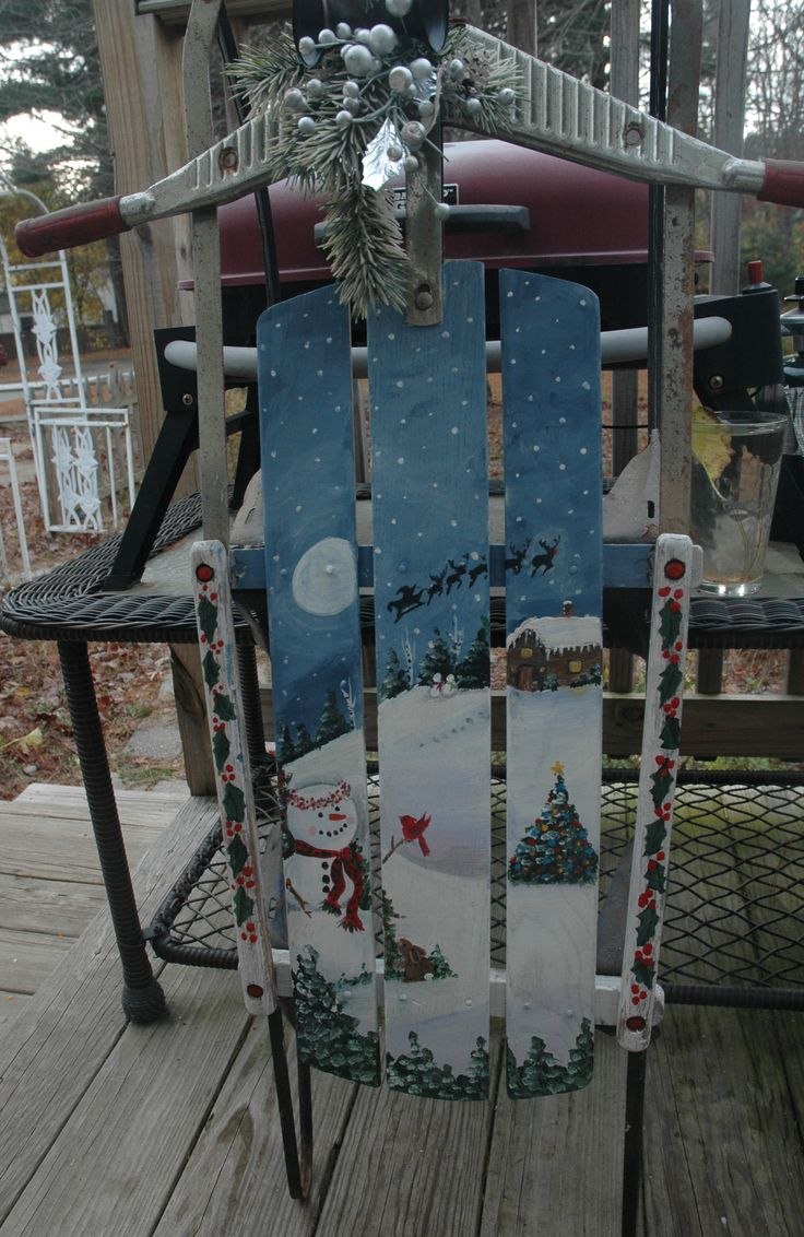 418 Best Painted Sleds Images On Pinterest Christmas