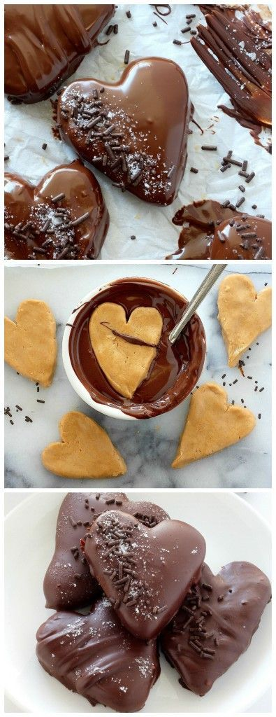Homemade Chocolate Covered Peanut Butter Hearts - So easy and no special equipment needed! Make with the kids or for your special Valentine.