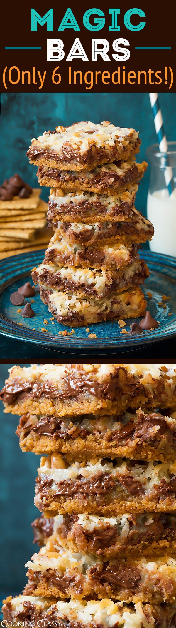 Six Layer Magic Bars (only 6 ingredients!) - A classic super easy treat everyone always loves!!