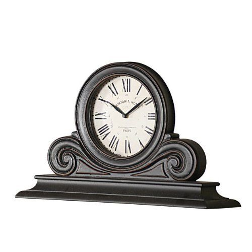 Elegant Scroll Design Wood Mantel Clock  #Clock #Design #Elegant #Mantel #RusticMantelClock #Scroll #Wood The Rustic Clock