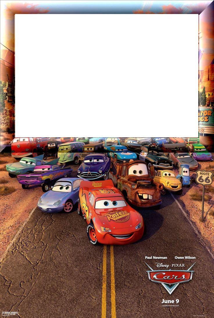 Invitaciones o Marcos para Fotos de Cars para Imprimir Gratis.