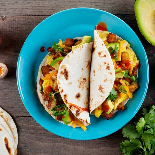 Super-flavorful (and super-easy) homemade fresh chorizo and crispy hash brown potatoes take these tasty breakfast tacos to the next level.