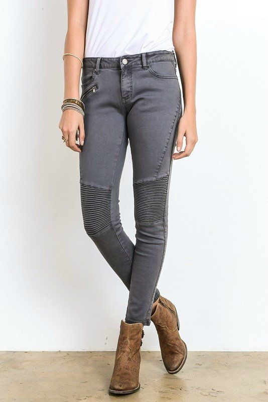 SHOP the Griffin Moto Jeans in Charcoal! -> https://bungalow123.com/collections/new-arrivals/products/griffin-moto-jeans ->FREE Domestic Shipping<-