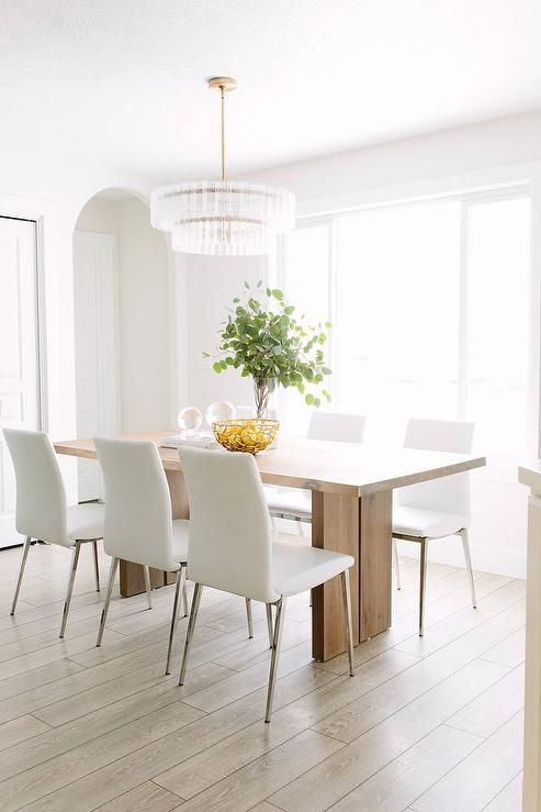 Modern White Dining Room Sets best 25+ leather dining chairs ideas on pinterest | dining chairs