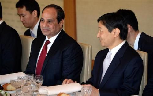 The Japanese Imperial Courts: Crown Prince Naruhito meets with Egyptian President