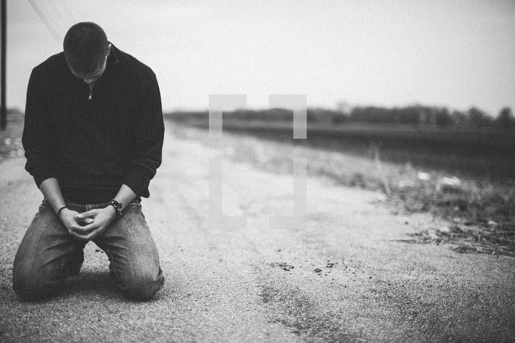man kneeling to pray - Google Search