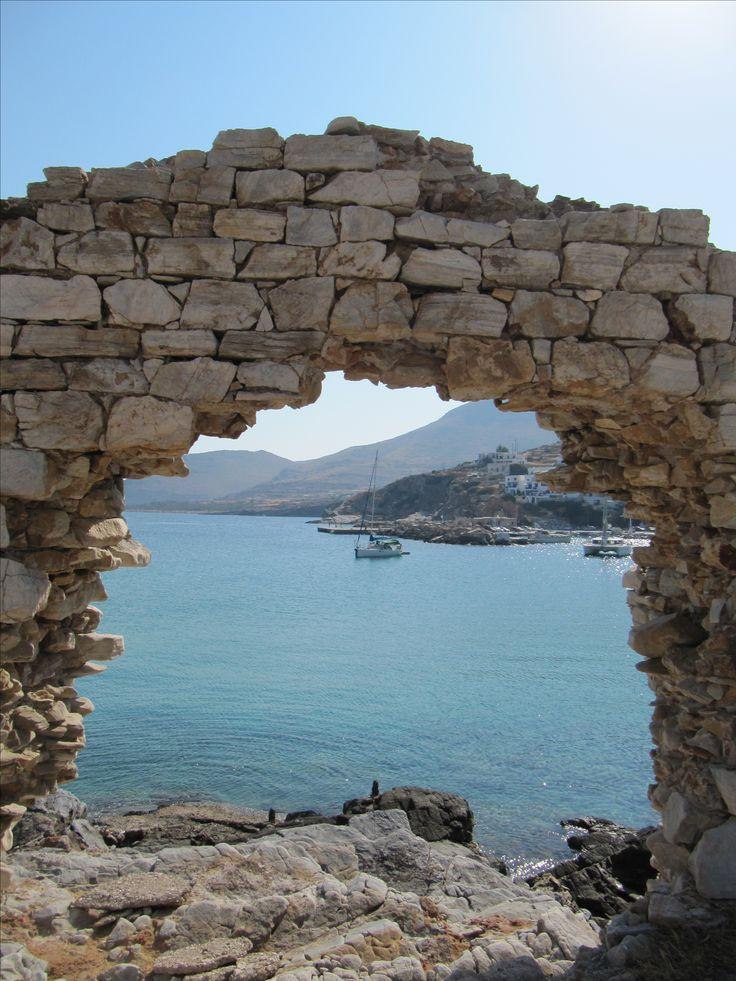 It seems like a window to the sea, Sikinos island