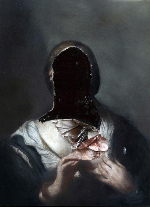 Il veleno nelle ombre - Nicola Samori. Oil on wood.
