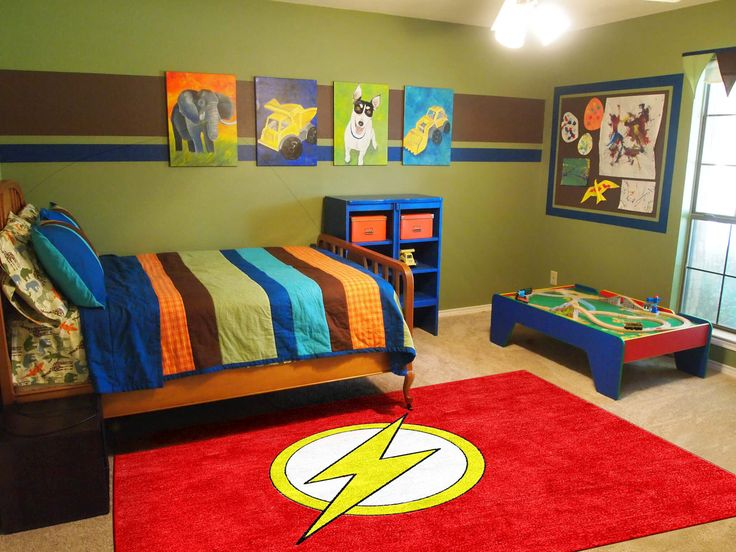 The Flash Super Hero Children's Rug in various sizes. Custom Children's Rug Sizes also available. Rug Rats is a trusted name in children's rugs.