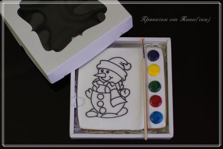 🎄🎄🎄Пряник-раскраска, отличный подарок для детей! Кто из детей не любит раскрашивать? А если можно ещё и скушать собственное произведение...  Все дети в восторге!🎄🎄🎄
