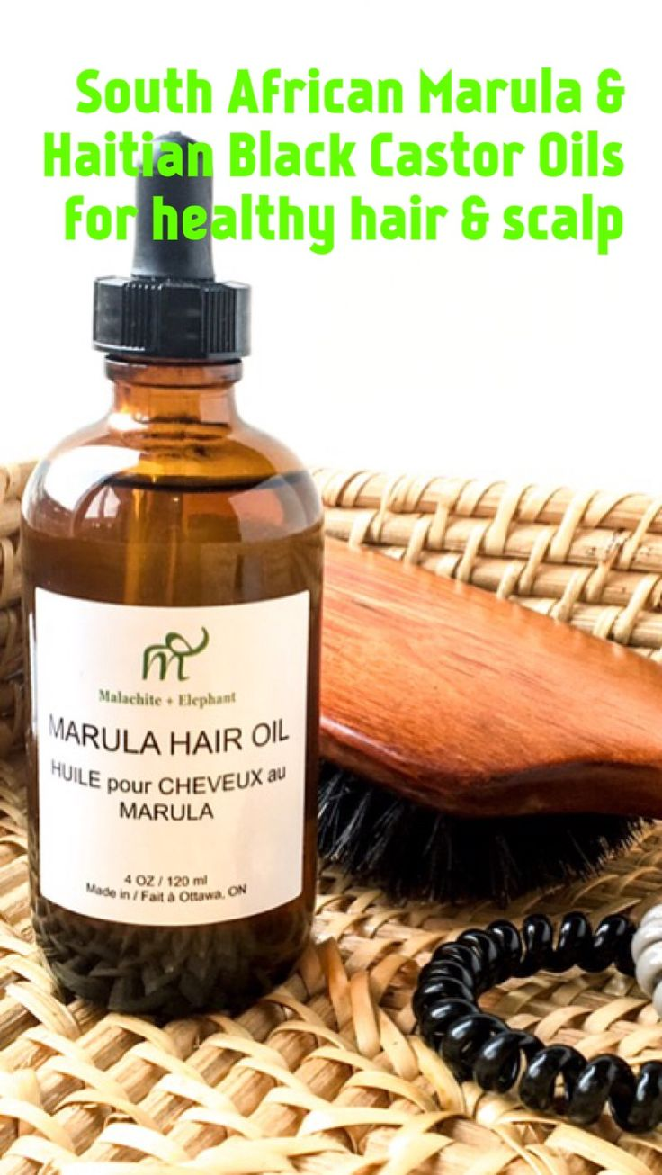 Our Marula Oil comes from South Africa and is rich in Vitamins C and E, is ideal for hair growth since it promotes healthy scalp, seals cuticle to seal in moisture. We use 100% Pure Haitian Castor Oil; the absolute best at treating damaged, dry, and brittle hair by providing intense nourishment to the hair and scalp and locking moisture into the hair shaft. It also treats and prevents dandruff.