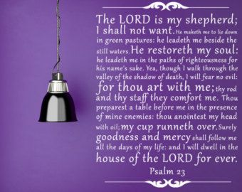 the lord is my shepherd psalm 23 vinyl wall decal kjv decal custom vinyl lettering bible quote custom vinyl lettering scripture decals