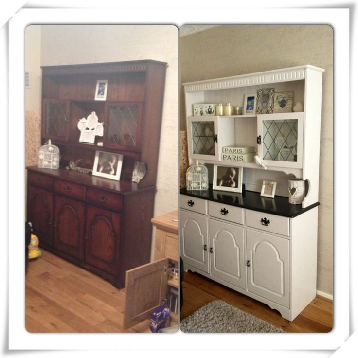 Welsh dresser before and after