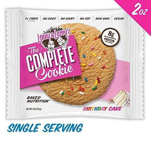 Lenny & Larry's The Complete Cookie, Birthday Cake, 2-Ounce Cookies (Pack of 12)