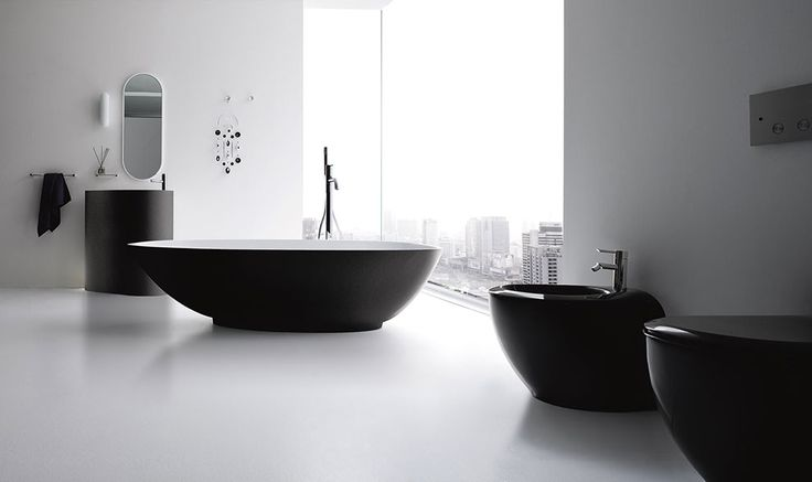 Boma by Imago Design is the collection that you can use also in bathroom with small dimensions, to permit a better usability of the center of the space.  #design #inspiration #bathroom #bath #materials #Corian® #Korakril™