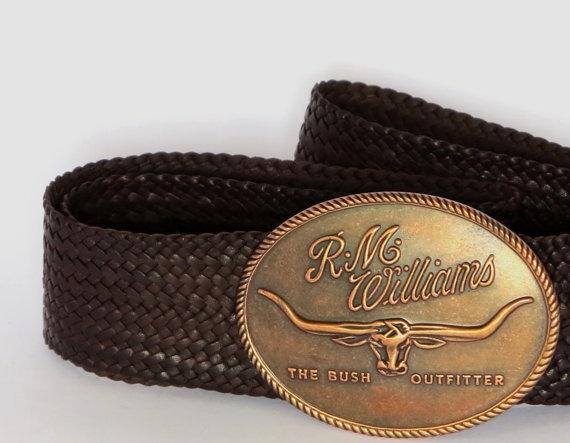 Kangaroo Leather Plaited Belt with by StockmanLeathercraft on Etsy, $220.00