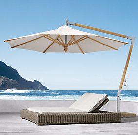 23 best outdoor furniture images on pinterest backyard for Restoration hardware outdoor umbrellas