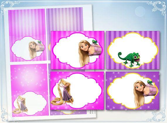 Rapunzel cibo tende tabella carte carte posto Disney Tangled compleanno decorazioni principessa party decorazioni