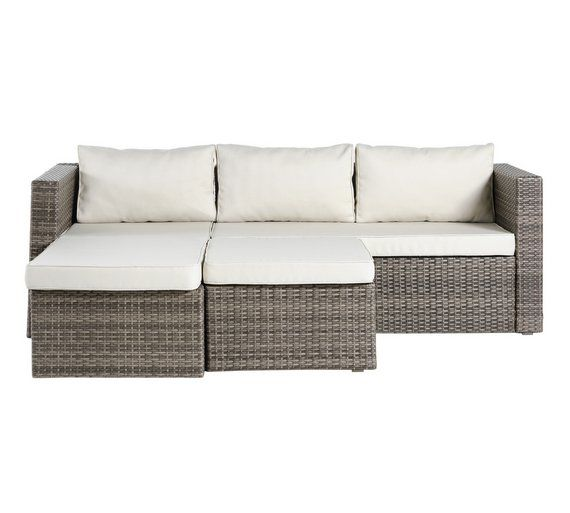 Elegant Buy HOME Seater Rattan Effect Mini Corner Sofa at Argos co uk