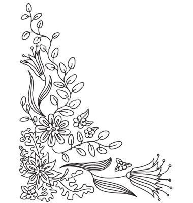 Floral doodle vector by gollli - Image #403288 - VectorStock