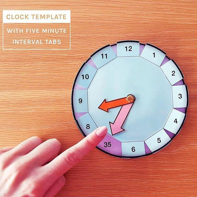 Time-measurement-math-make-your-own-clock-activity-five-5-minute-intervals-for-telling-the-time-to-5-minutes