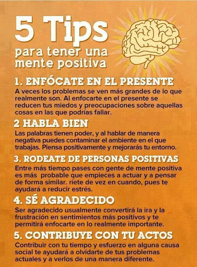 Tips para mente positiva y corazón sereno