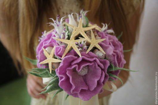 """Свадебные цветы ручной работы. Ярмарка Мастеров - ручная работа. Купить Букет невесты в морском стиле """"Нежный бриз"""". Handmade."""