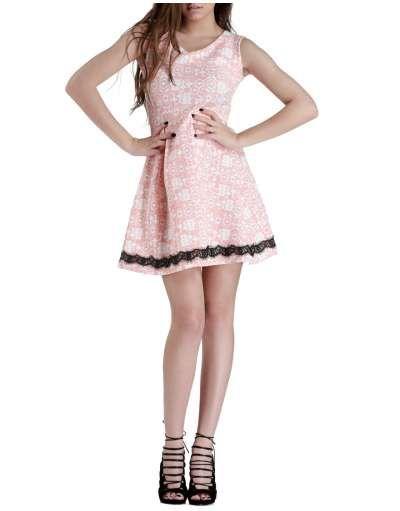 ΝΕΕΣ ΑΦΙΞΕΙΣ :: Αμάνικο Φόρεμα Pixels and Dust Baby Pink - OEM