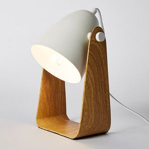 Unique and sleek in design, our Casper table lamp will add a touch of natural earth styling to any home. With its understated wood look base and subtle...