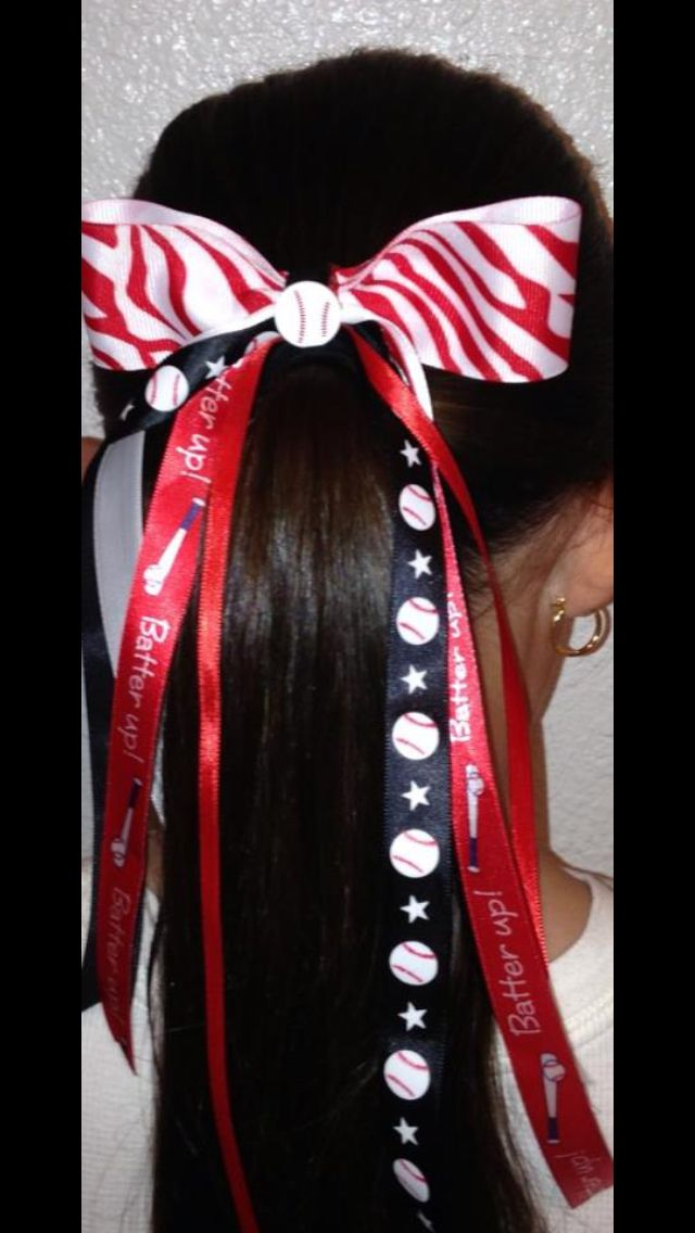 Softball/Baseball hair bow