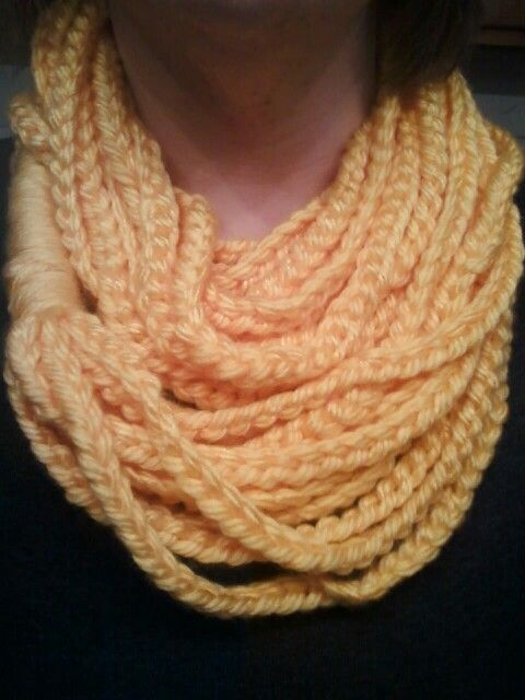 Yellow rope scarf