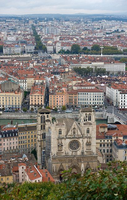 A View of Lyon from Fourvière Hill