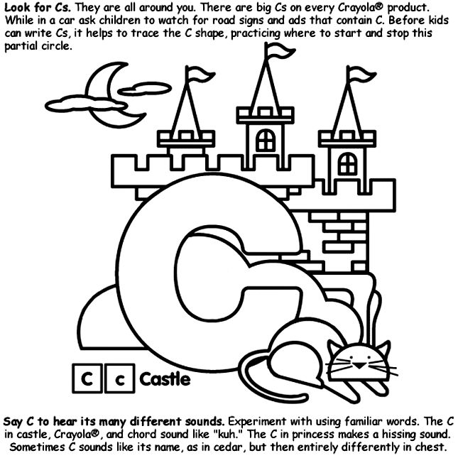 alphabet c coloring page from crayolacom - C Coloring Sheet