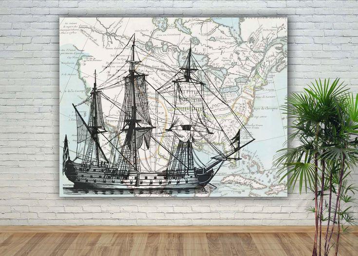Sailboat Print Nautical Art Decor Sailing Art War Ship Sailing Decor Gift For Sailors Sailing Schoo Nautical Art Decor Nautical Art